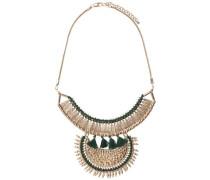 Modische Halskette gold / grün