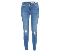 'destroyblue Skin' Destroyed Jeans blue denim