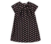 Kleid mit Herzchen-Muster rosa / schwarz