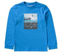 Langarmshirt 'chill' für Jungen Surfen royalblau / grau