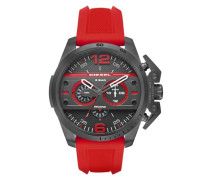 Chronograph »Ironside« anthrazit / feuerrot