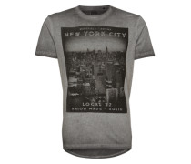 Shirt 'Elis' grau / schwarz