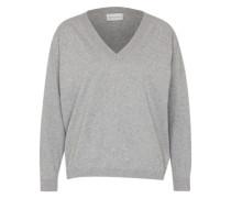 Pullover aus Feinstrick grau