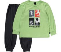 Schlafanzug grün / schwarz