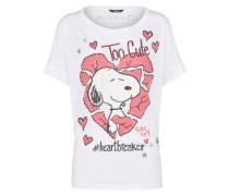 'Peanuts snoopy heartbreaker' T-Shirt hellrot / weiß