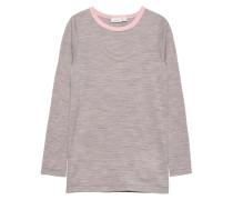 Woll-Oberteil mit langen Ärmeln 'nittop' grau / pink