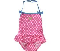 Baby Badeanzug mit UV-Schutz hellblau / pink / weiß