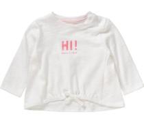 Baby Langarmshirt für Mädchen Organic Cotton weiß