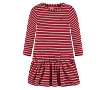Kleid Mädchen Kinder Kinder rot / weiß