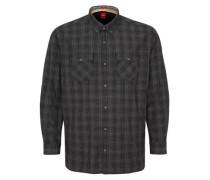 Regular: Button-Down-Hemd mit Karomuster kobaltblau