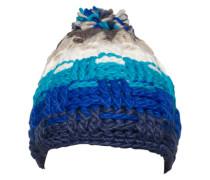 Softe Pudelmütze blau / mischfarben