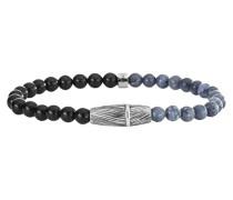 Armband mit Korallen und Onyx »feather C4200B/90/ak/21« taubenblau / schwarz / silber