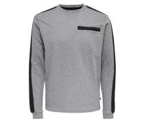 Sweatshirt Detailliertes grau / schwarz
