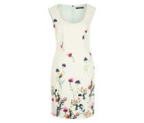 Kleid mit Blumenmuster offwhite