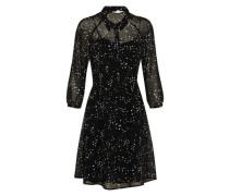 Blusen-Kleid aus Chiffon schwarz