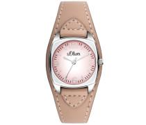 Armbanduhr »So-3151-Lq« pink / silber