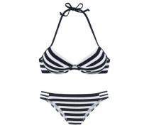 Push-up-Bikini schwarz / weiß