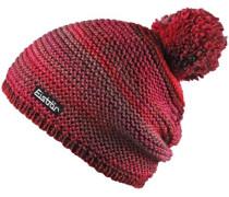 Bommelmütze 'Kunita Pompon' rot