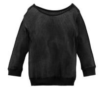 Pullover in Lochstrickoptik schwarz