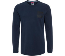 'Fine' Sweatshirt nachtblau