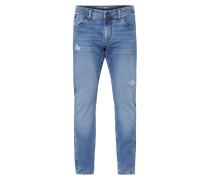 Blue used destroyed Jeans Cle-Ve