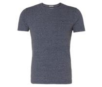 T-Shirt in Melange blau