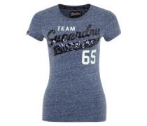 Printshirt mit Pailletten 'Team Comets' blau / weiß
