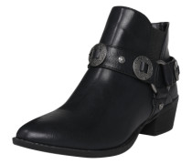 Ankle-Boot im Western-Design schwarz