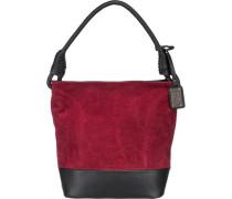 Handtasche rot / schwarz