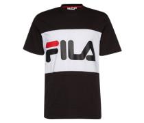 T-Shirt mit Logo-Print schwarz