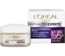 'Anti-Falten-Expert Calcium 55+ Nachtpflege' Gesichtspflege weiß