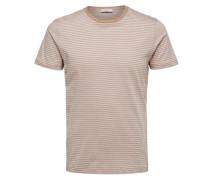 T-Shirt Rundhalsausschnitt- dunkelbeige