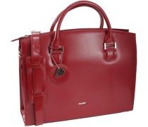 Berlin Business-Handtasche Leder 36 cm rot