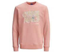 Sweatshirt pink / lachs / gelb / weiß