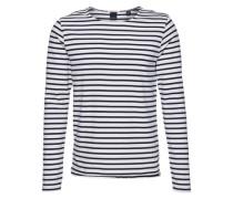 Langarmshirt mit Streifen 'Distillery Breton' blau / weiß