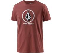 'Circlestone' T-Shirt Herren rot
