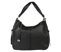 Hobo Bag 'Pcjustine' in Leder-Optik schwarz
