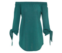 Schulterfreie Tunika smaragd