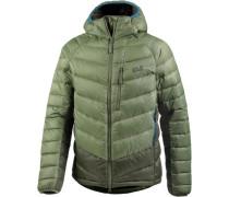 Daunenjacke 'Neon' khaki / hellgrün
