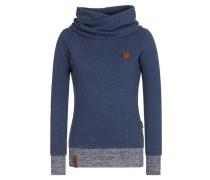 Female Sweatshirt 'Singen Tanzen Lachen V' dunkelblau