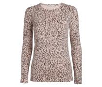 Leopardripp-Oberteil braun / pink