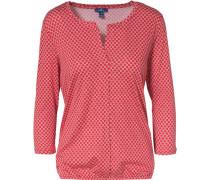 Bluse mit Print und 3/4-Arm rot