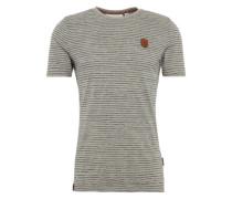 Male T-Shirt grau / schwarz