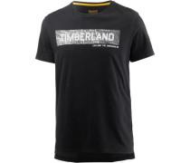 T-Shirt rauchgrau / schwarz
