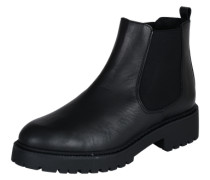 Chelsea-Boot mit robuster Sohle schwarz