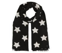 Schal mit Sternen schwarz