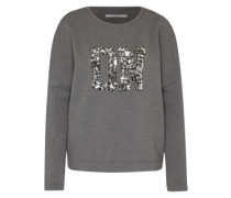 Fleece-Pullover 'Crystal' dunkelgrau / silber