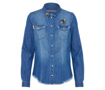 Jeans Bluse 'onlROCK IT Fit' blue denim