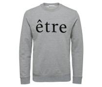 Crew Neck-Sweatshirt graumeliert / schwarz