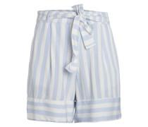 Streifen Shorts hellblau / weiß